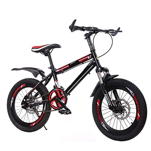 HUAQINEI Bicicleta Bicicleta para Exteriores para niños Adecuada para niños de 7 a 14 años y Bicicletas de montaña para niños, Color Negro, 18 Pulgadas
