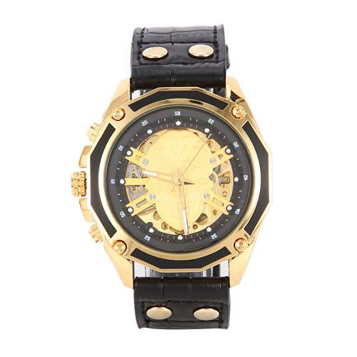 Watch, una gran caja de reloj de acero inoxidable para hombre de decoración para negocios