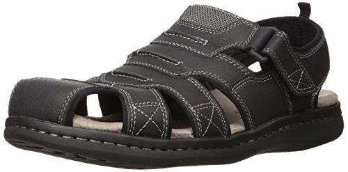 Dockers Men's Searose Fisherman Sandal, Black, 11 M US