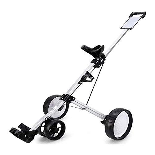 Fold Golfwagen mit 3 Rädern Golf Handwagen, 4-Rad-Faltbarer Push Cart Mit Score Board, Hand Push-Golf Cart, for...
