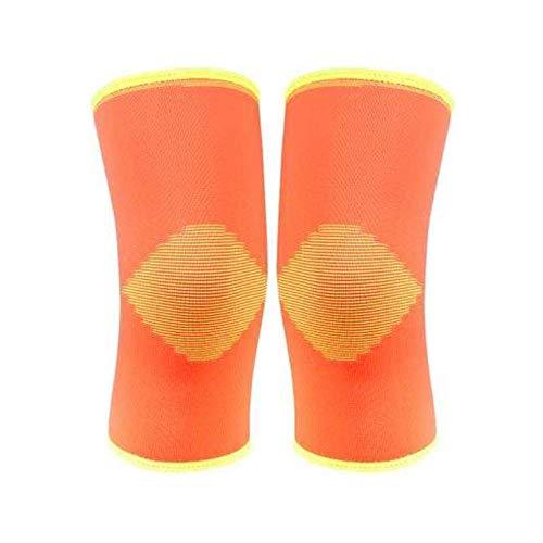 CNMZ 1 par 5 colores nylon y spandex suave elástico de tejer rodilleras deportivas de seguridad para mantener caliente proteger, negro, Medium