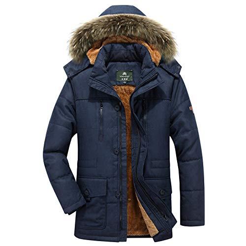 Preisvergleich Produktbild SHUO Large Size Herren Baumwoll-Multitasche Plus samtgepolsterter Baumwoll-Kapuzenanzug,  stilvolles Aussehen,  große Auswahl an Größen