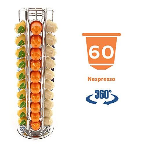 Peak Coffee Soportes para 60 Nespresso cápsulas de café, Color Plateado…
