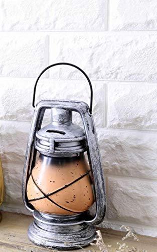 LIANGRAN Sparschwein Geschenk Piggy Petroleumlampe Modell Sparbüchse Schweinchen Retro Harz Spartopf Harz Kunsthandwerk Vintage Heimtextilien Währung Sparen Sparbüchse, Silber
