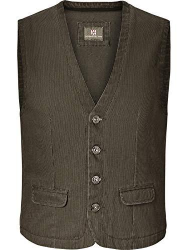 JAN VANDERSTORM Herren Weste TORELL in Übergröße. Große Größen in guter Qualität aus 100 % Baumwolle., ,, Olive, 56 - XL