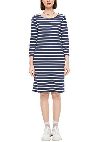 s.Oliver Damen 120.10.003.20.200.2037771 Kleid, Dark Blue Stripes, 46