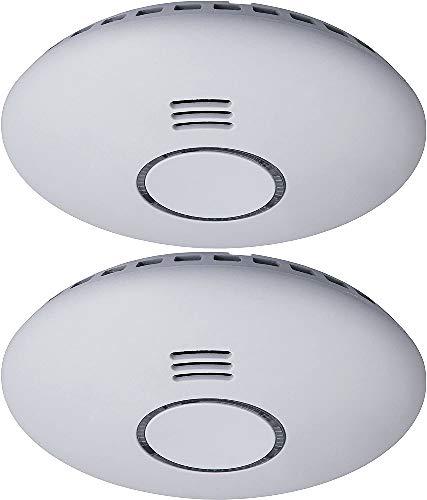 Smartwares RM174RF/2 , Funk-Rauchmelder, flaches Design, 2-er-Pack,Weiß