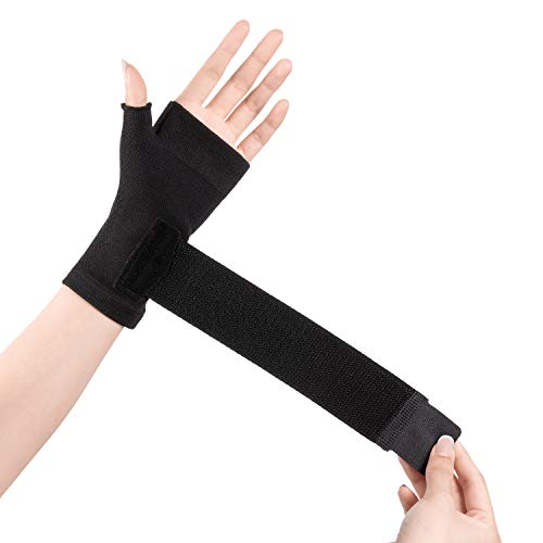 2U2O Wrist Thumb Support Sleeve - Compression Hand Brace with Elastic Strap for Carpel Tunnel, Wrist Pain, Arthritis, Tendonitis Pain Relief - Multi Zone Compression Sleeve - Improve Circulation