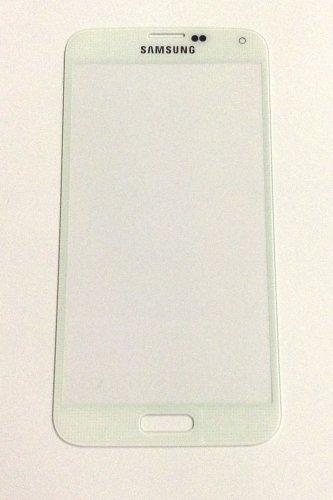 Vetro per Samsung i9600 Galaxy S5 S5 Bianco