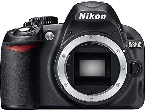 Nikon D3100 14.2MP DX-Format DSLR Digital Camera (Body Only) (25470B) - (Black) - (Renewed)