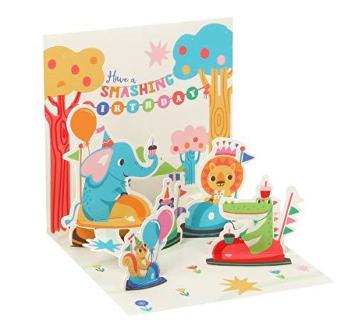 Pop UP 3D Karte Geburtstag Mini Grußkarte Sekt Prost Feiern 7,6x7,6cm