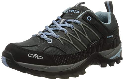 CMP – F.lli Campagnolo Damen Rigel Low Wmn Shoe Wp Trekking- & Wanderhalbschuhe, Grau (GRAFFITE-Azzurro 77BD), 42 EU