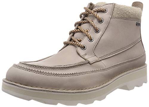 Clarks Herren Korik Rise GTX Chelsea Boots, Grau (Desert Leather), 45 EU