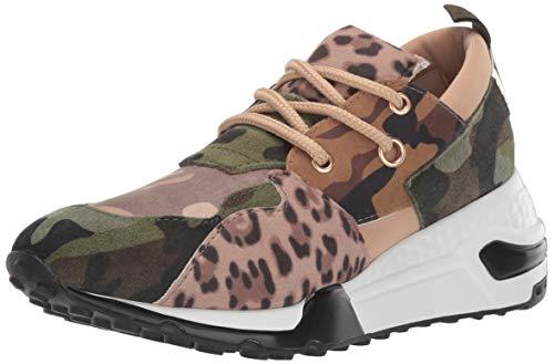 Steve Madden Women's Cliff Sneaker, Khaki/Olive, 8.5 M US