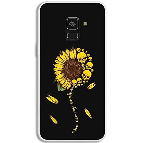 sicuro compatibile con samsung galaxy A5 A8 2018 silicone custodia Multistrato avere con Little Sunflower 1