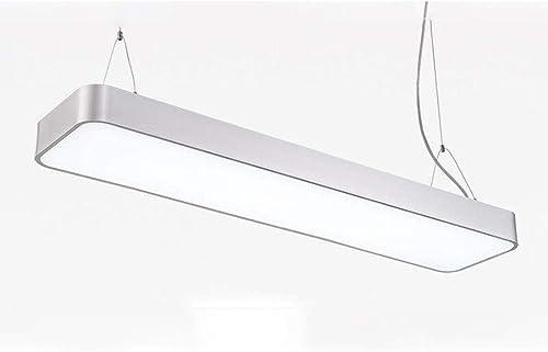 Lustre LED Panneau Lumière Plafonnier Rectangulaire Lustre De Bureau Décoration de La Maison MMD (Couleur   blanc, Taille   20  120cm)