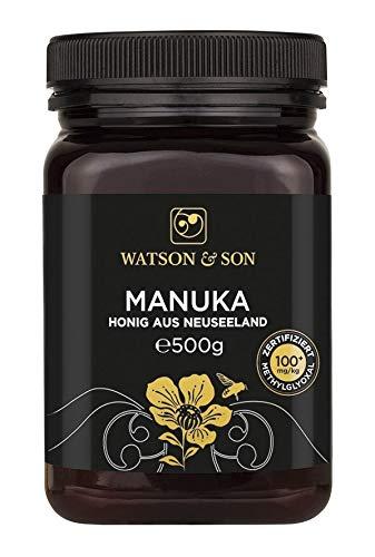 Watson & Son Manuka Honig MGO 100+ 500g   Zertifizierte Premium Qualität aus Neuseeland