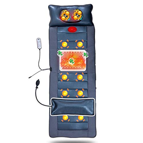 ZYM Massage Mattress with 10 Vibrating Motors And Therapy Heating Pad,Electric Body Massage Cushion for Relieving Back Lumbar Leg Pain