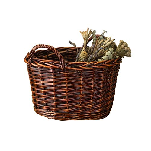 Lowest Prices! YINJIESHANGMAO Wicker Storage Basket, Basket Rattan Frame, Kitchen Woven Bamboo Baske...