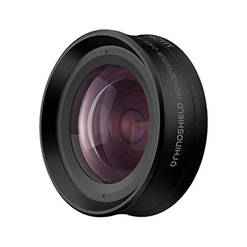 RhinoShield - Objetivo Fotográfico Profesional Add-On 2 en 1 para Móviles - Gran Angular + Macro 4K HD Montura Bayoneta