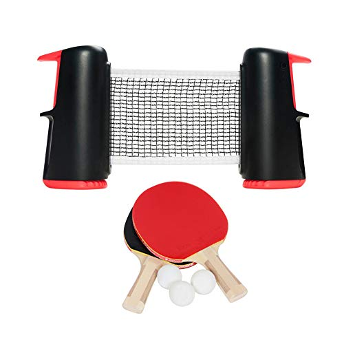 Purchase ROLLNET Small Table Tennis NET Made for Playing Free Table Tennis on Your Home Table. Get T...