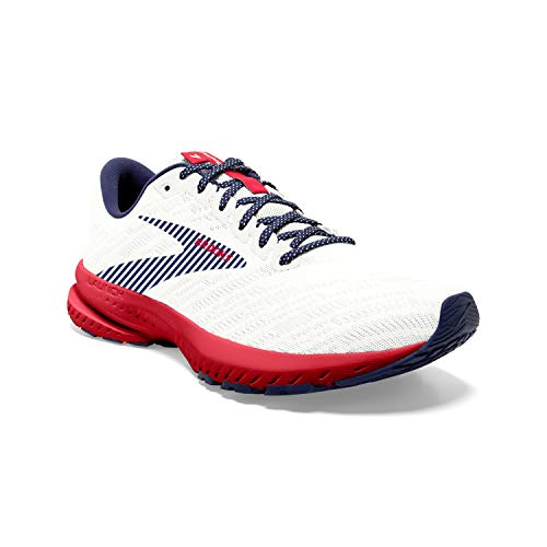 Brooks Launch 7 White/Blue/Red 10 D (M)
