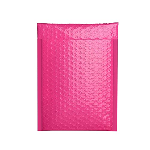YANGYANG Allenzhang 100 PCS Bubble Mailers Sobres Acolchados Sobres alineados Poly Mailer Sellado Sobres Pink Pink con Bubble Mailing Bag Paquetes de envío