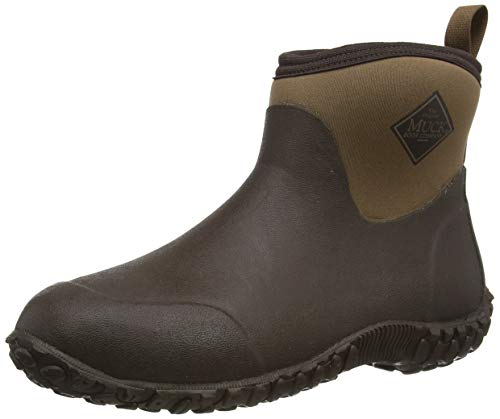 Muckster ll Ankle-Height Men's Rubber Garden Boots,Black/Otter,11 M US