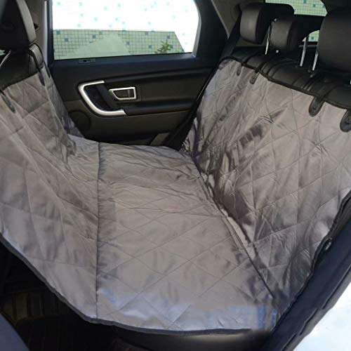 Car Seat Cover Dog, Waterproof Scratch Proof Pet Travel Hammock,Durable Nonslip Soft Padded Back Seat Protector Mat Fits All Cars Trucks SUVs,Gray