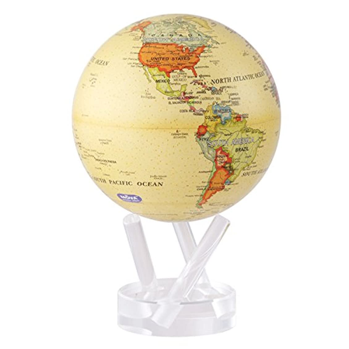 処方熟読するマラウイMOVA 不思議な地球儀 MOVAグローブ 11cm Political Map Yellow
