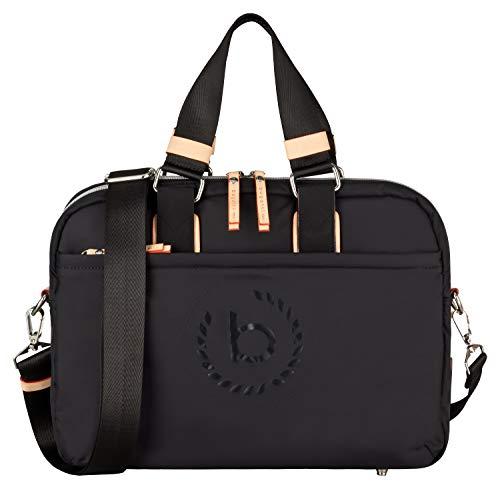 Bugatti Lido Aktentasche Damen mit Laptopfach – Businesstasche Damen Laptoptasche – Bürotasche in Schwarz