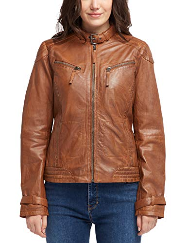 MUSTANG Damen Tailored Fit Lederjacke