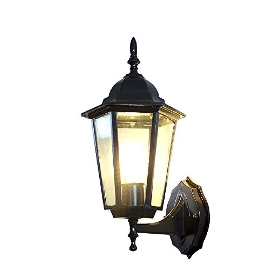 超音速支出アクティブ千飾 LED 照明 エクステリア ライト おしゃれ かわいい 人気 壁 玄関 門 屋外 外灯 防雨型 レトロ調 ガラス 洋風 黒 ブラック 透明 アルミダイカスト