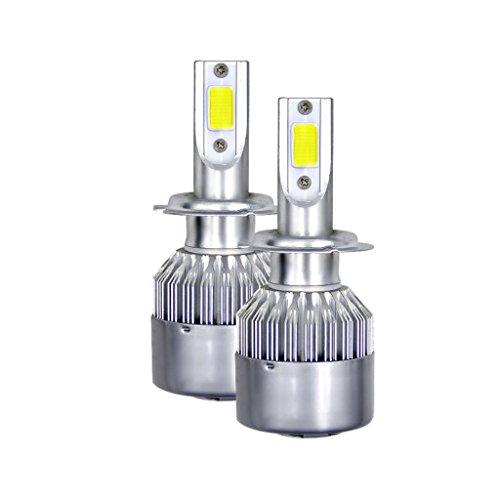 MagiDeal 2X Ampoule Phare Avant Headlight Kit 6000K Blanc Bulb COB LED de Voiture 900W 135000LM HID Blanc - H7