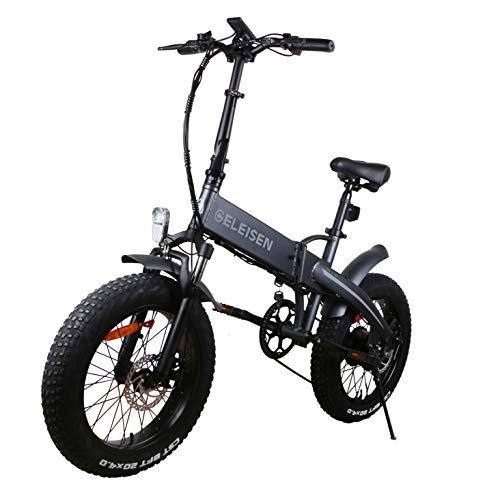 Fafrees Bicicletta Elettrica Pieghevole da 20 Pollici 48V 500W Fari Super Luminosi Bicicletta Elettrica Pneumatico Largo 4 Pollici con Strumento LCD + Pedali in Alluminio