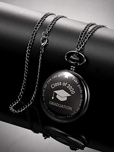 Pocket Watch Personalized Engraved Graduation Class of 2020 Graduation with Storage Box