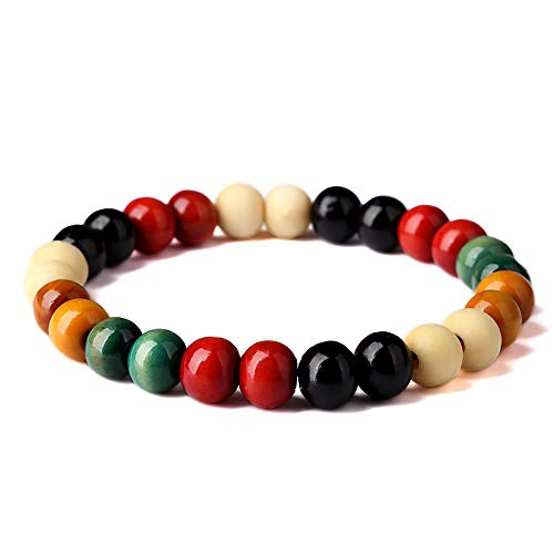 Herrn Perlenarmband Glasperlen Chakra Stilvoll Einfach Beiläufig/Sportlich Gleichgewicht Hölzern Armband Schmuck Regenbogen für Alltag Strasse Ausgehen