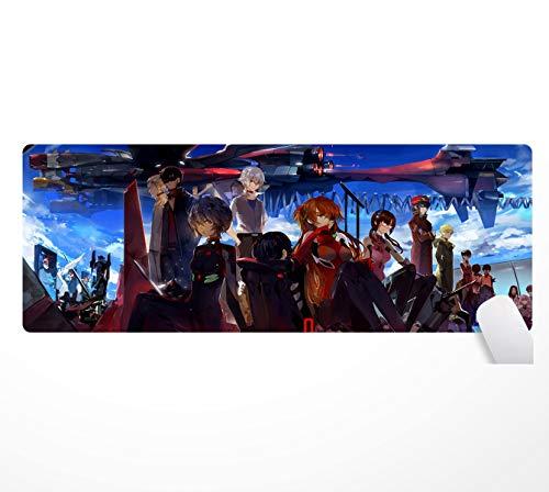 Neon Genesis Evangelion, alfombrilla de ratón antideslizante con base de goma, 80 x 30 cm