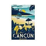 DSXZ Vintage-Reise-Poster City Cancun Mexiko, Poster,