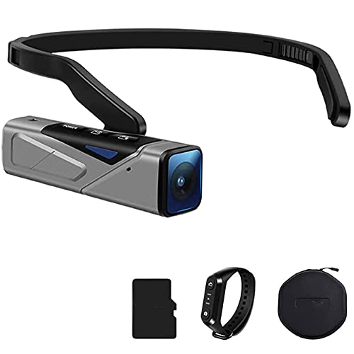 Videocamera 4K 60fps, Mini WiFi Head Videocamera Digitale Indossabile Filmadoras Vlog Recorder per Youtube Blogger Shooting Camera Portatile (con Scheda SD da 64 GB)