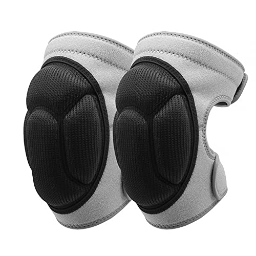 MiOYOOW 1 par de rodilleras de esponja, rodilleras elásticas anticolisión con muñequeras ajustables para baloncesto, voleibol, deportes