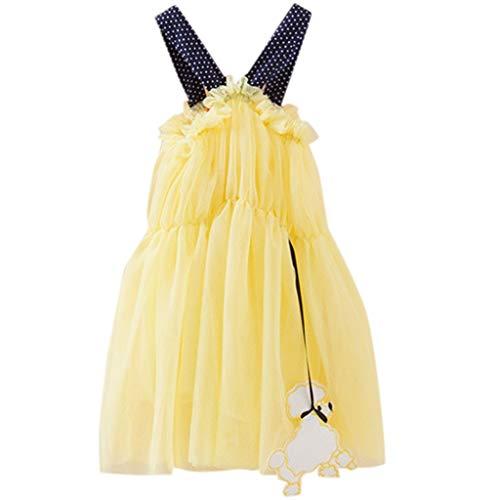 TWIFER-Été-Col Rond-Tulle Tutu Beachwear Princesse Strap Robe Robe d'été Summer Toddler Enfants Bébé Fille(0-24 Mois