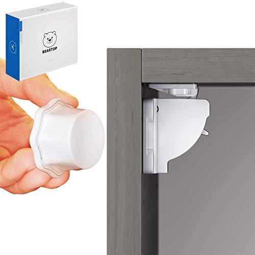 magnetische Schubladensicherung Kindersicherung von BEARTOP | starker Halt dank TESA Tape | optionale Schrauben | hilfreiche Installationshilfe & Video | Zufriedenheitsgarantie (3 Jahre)*