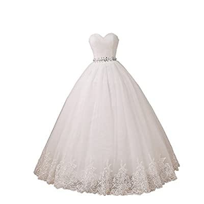 YIPEISHA Wedding Dress Sweetheart Tulle Wedding Dresses for Bridal Plus Size Ball Gowns 2 Ivory