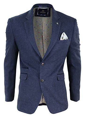 House Of Cavani Chaqueta tipo Blazer de Lana Tweed Azul Marron Vintage. Peaky Blinders