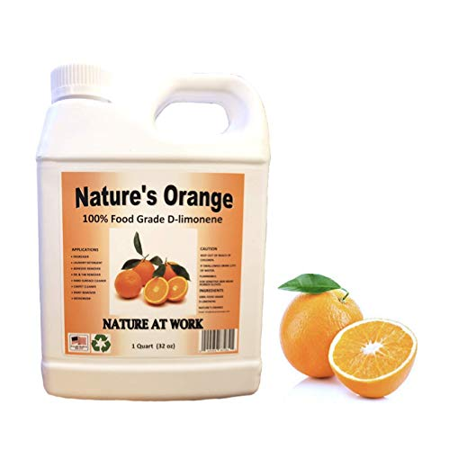 Natures Orange 100% Pure Food Grade D-Limonene (Orange Oil Limonene Extract. Citrus Cleaner, Degreaser, and Deodorizer) 32 Fl. oz