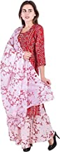 AESTHETIC PARADIGM'S Ritzy Women Cotton Kurti with 5 Tier Long Skirt With Duptta Party Wear Women Designer Dress For Women's Red Color latest design ethnic wear hipster dress