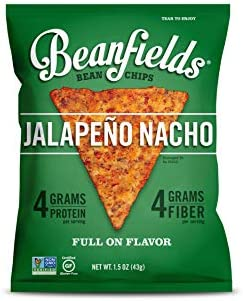 Beanfields Bean Chips High Protein and Fiber Gluten Free Vegan Snack Jalapeno Nacho 1 5 Ounce product image