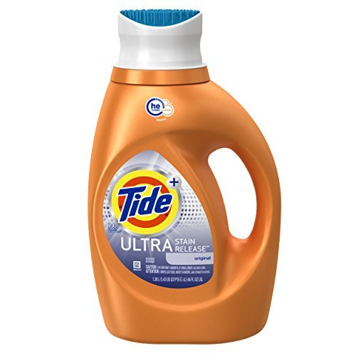 Tide Ultra Stain Release HE Turbo Clean Liquid Laundry Detergent, 46 Fluid Ounce (24 Loads), 2 Count by Tide