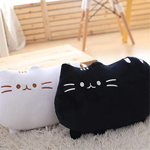 dzj 2Pcs/Set Soft Plush Lovely Cat Toy 30Cm Pillow Cushion Bolster Sofa Toy Bed Home Decor Solid Color Toys Children Girl Pillow Birthday Gifts